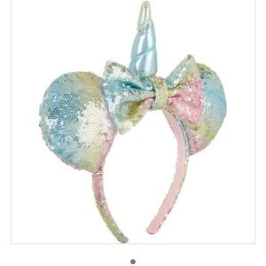 New Mini mouse pink and blue unicorn ears headband